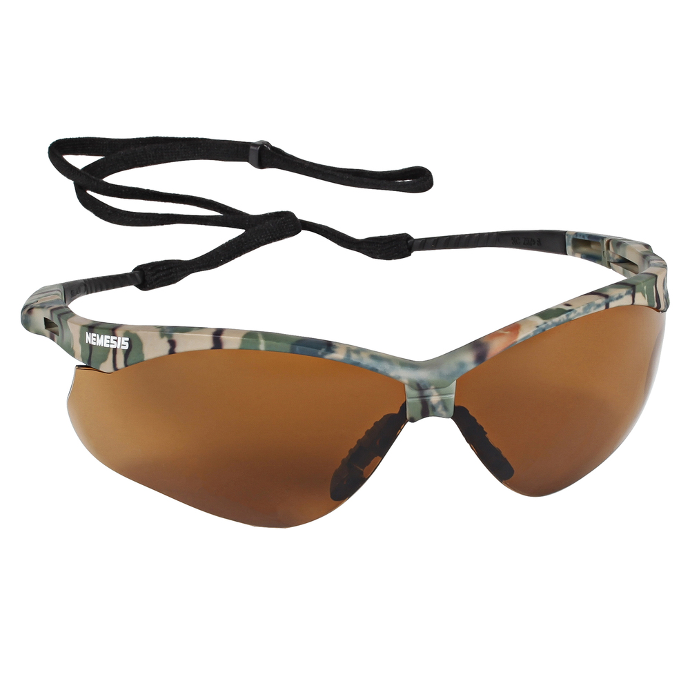 KleenGuard™ Nemesis CSA Safety Glasses (20386), CSA Certified, Bronze Lens with Camo Frame, 12 Pairs / Case - 20386