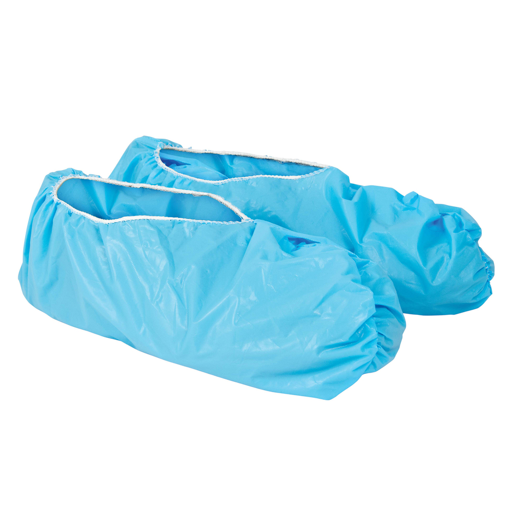 KleenGuard™ A20 Shoe Covers (66857), Seamless Elastic Sole, Cleanroom Packaging, XL / 2XL, Light Blue, 300 Each / Case - 66857