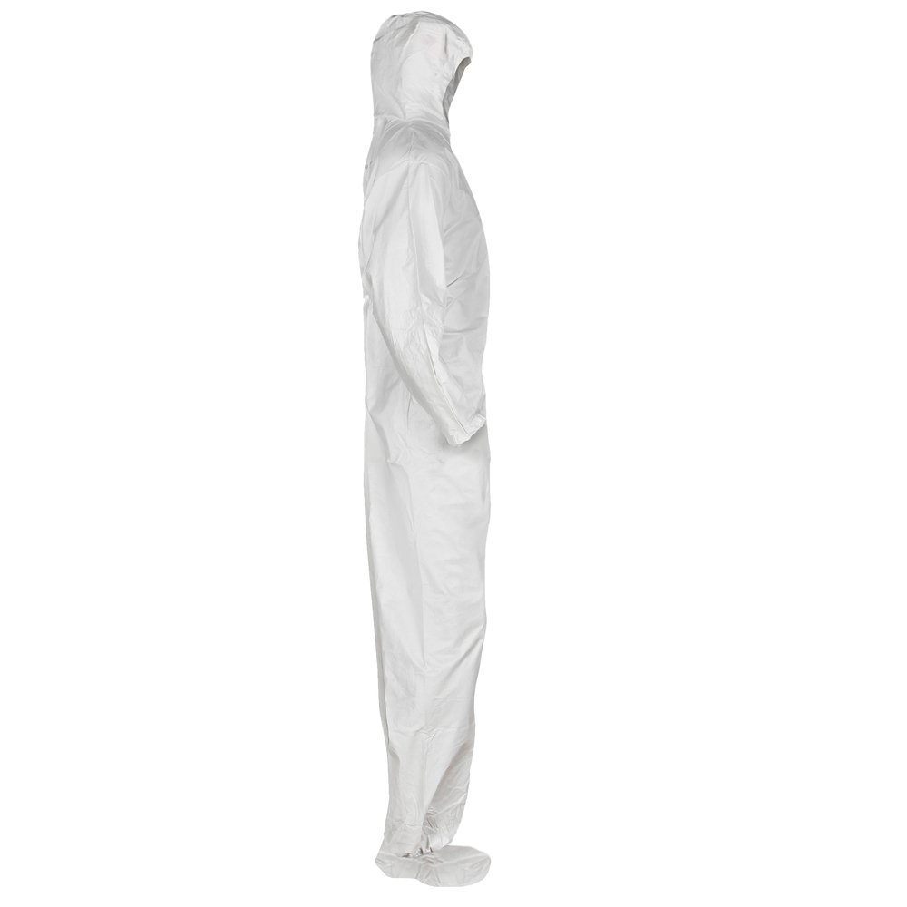 KleenGuard™ A20 Breathable Particle Protection Hooded Coveralls (49122), REFLEX Design, Zip Front, Hood, Boots, White, Medium, 24 / Case - 49122