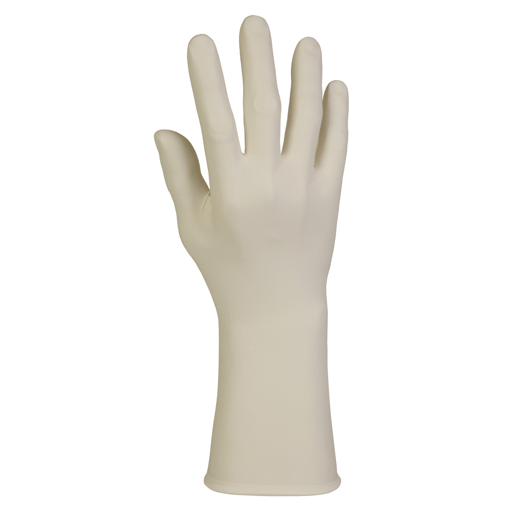 "Kimberly-Clark™  PFE-Xtra Latex Exam Gloves (50503), 10.2 Mil, Ambidextrous, 12"", Large, Natural Color, 50 / Box, 10 Boxes, 500 Gloves / Case - 50503"