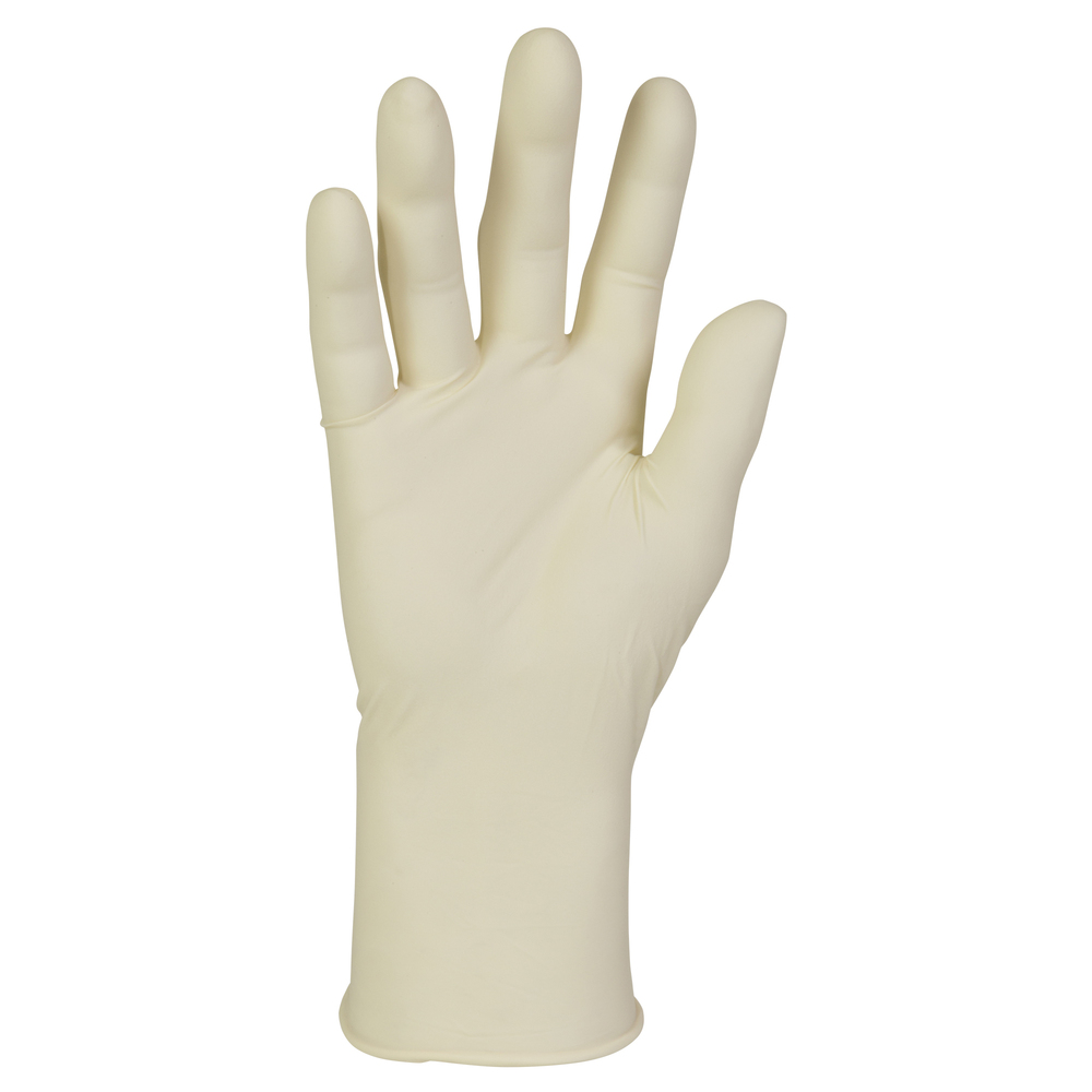 "Kimberly-Clark™  PFE Latex Exam Gloves (57220), 6.7 Mil, Ambidextrous, 9.5"", Small, Natural Color, 100 / Box, 10 Boxes, 1,000 Gloves / Case - 57220"
