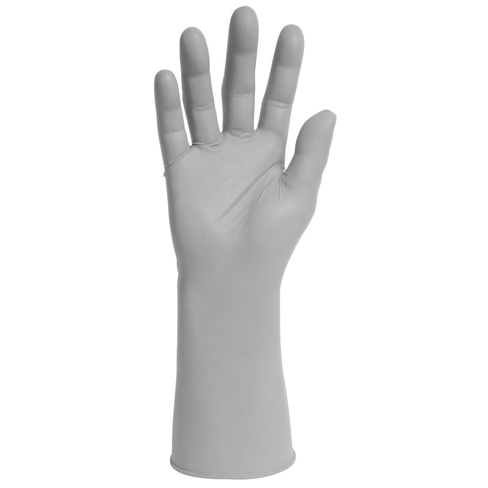 "Kimtech™ G3 Sterile Sterling™ Nitrile Gloves (11827), 4 Mil, Cleanrooms, Hand Specific, 12"", Size 9, Gray, 300 Pairs / Case - 11827"