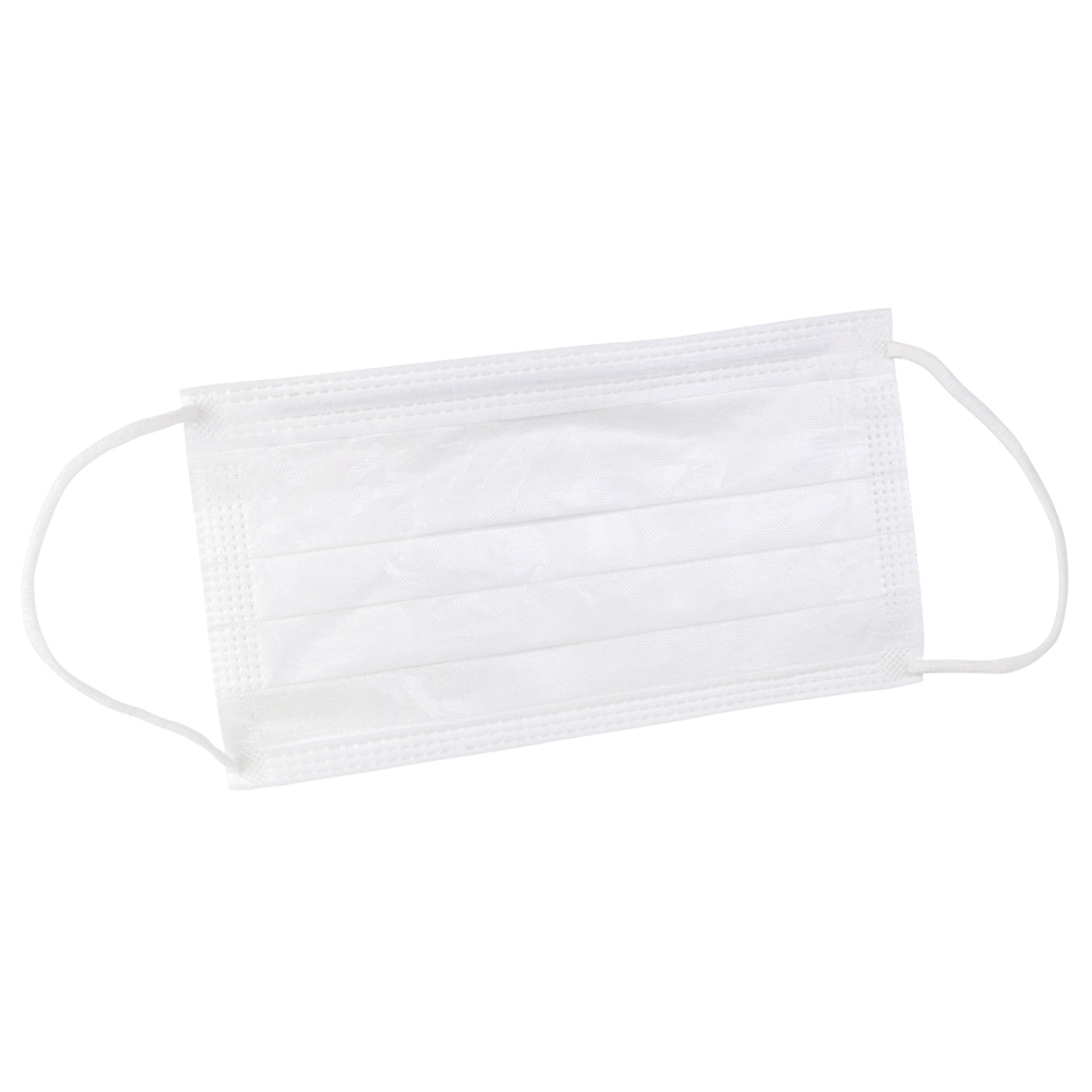 "Kimtech™ M3 Sterile Face Masks (62470), Pleat-Style, Knit Earloops, 7"", Double Bag, White, One Size, 200 Masks / Case, 20 / Bag, 10 Bags - 62470"