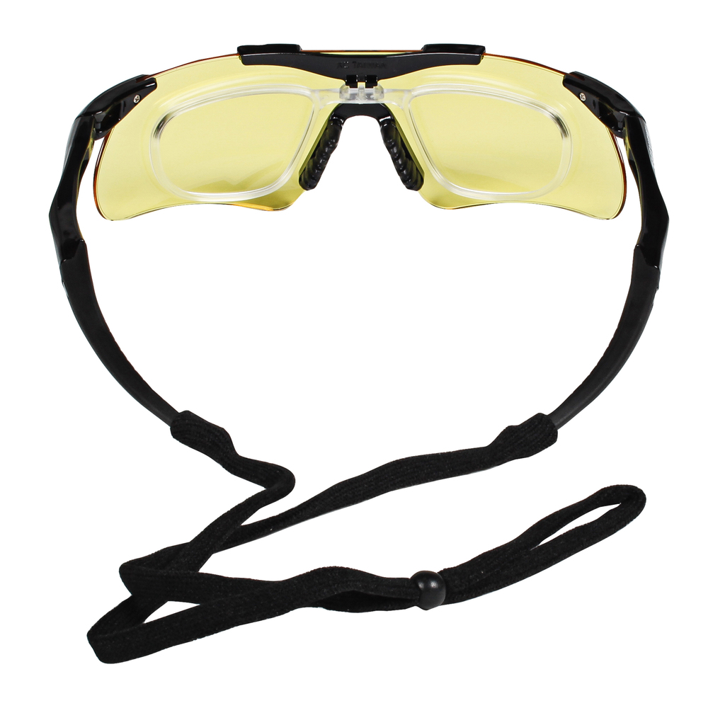 KleenGuard™ Nemesis Safety Glasses with Rx Inserts (38504), OTG Protective Glasses, Amber Anti-Fog Lenses, Black Frame, 12 Pairs / Case - 38504