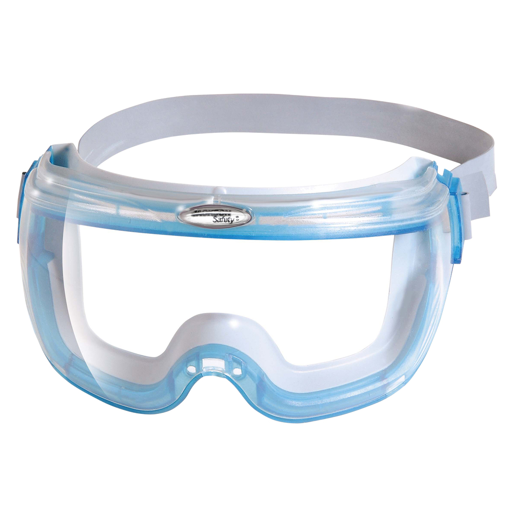 KleenGuard™ V80 Revolution OTG Safety Goggles (14399), Fits Over Glasses, Comfortable Anti-Fog Clear Lens, Blue Frame, 30 Pairs / Case - 14399
