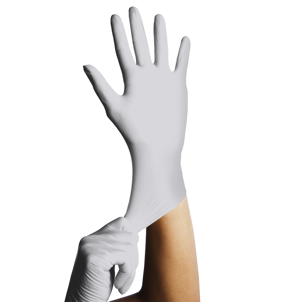 "Kimtech™ G5 Sterling™ Nitrile Gloves (98188), ISO Class 5 or Higher Cleanrooms, Ambidextrous, Powder Free, 12"", Large+, Double Bagged, 250 / Bag, 6 Bags, 1,500 Gloves / Case - 98188"