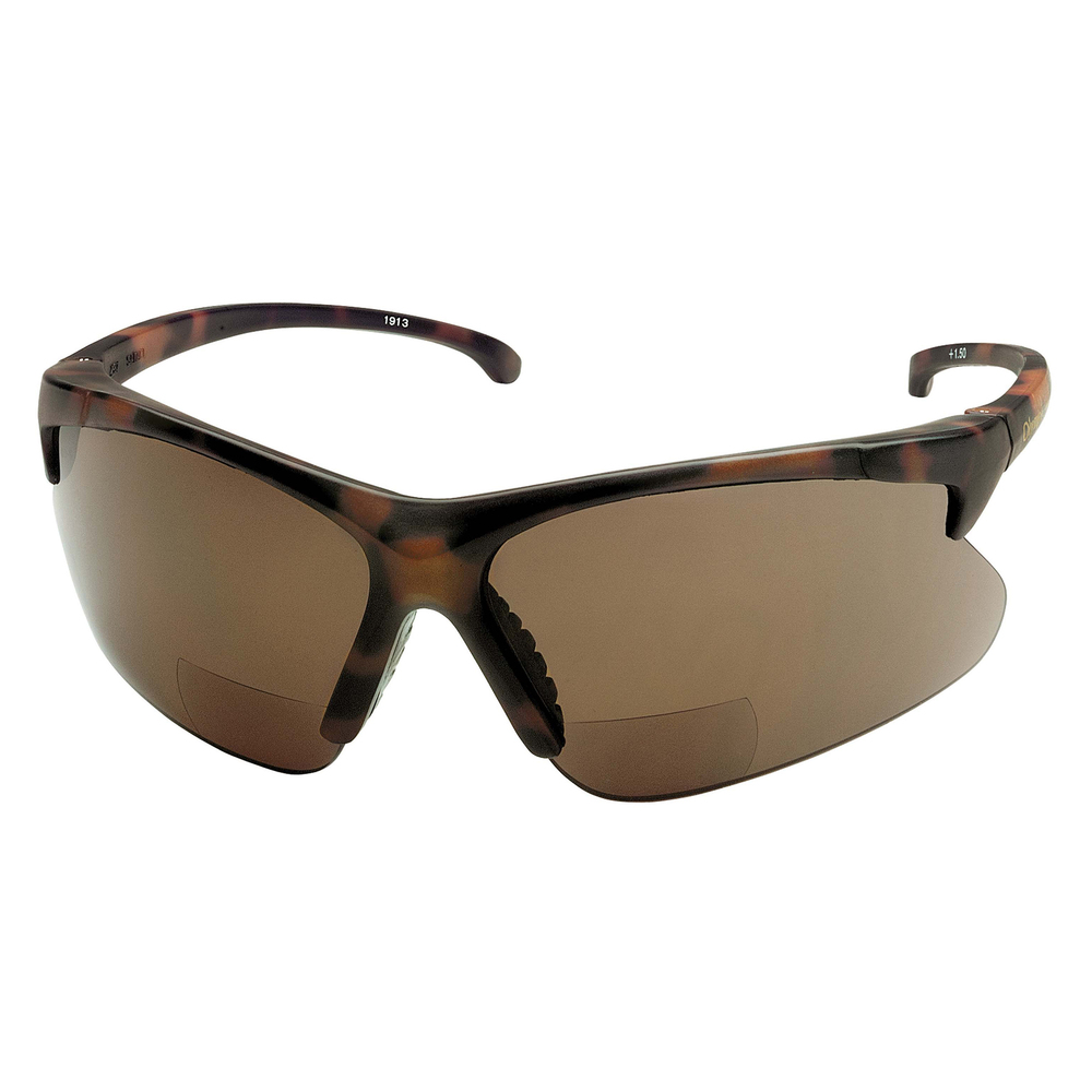 KleenGuard™ V60 30-06 Readers Safety Sunglasses (19872), Smoke Readers with +1.5 Diopters, Tortoise Frame, 6 Pairs / Case - 19872