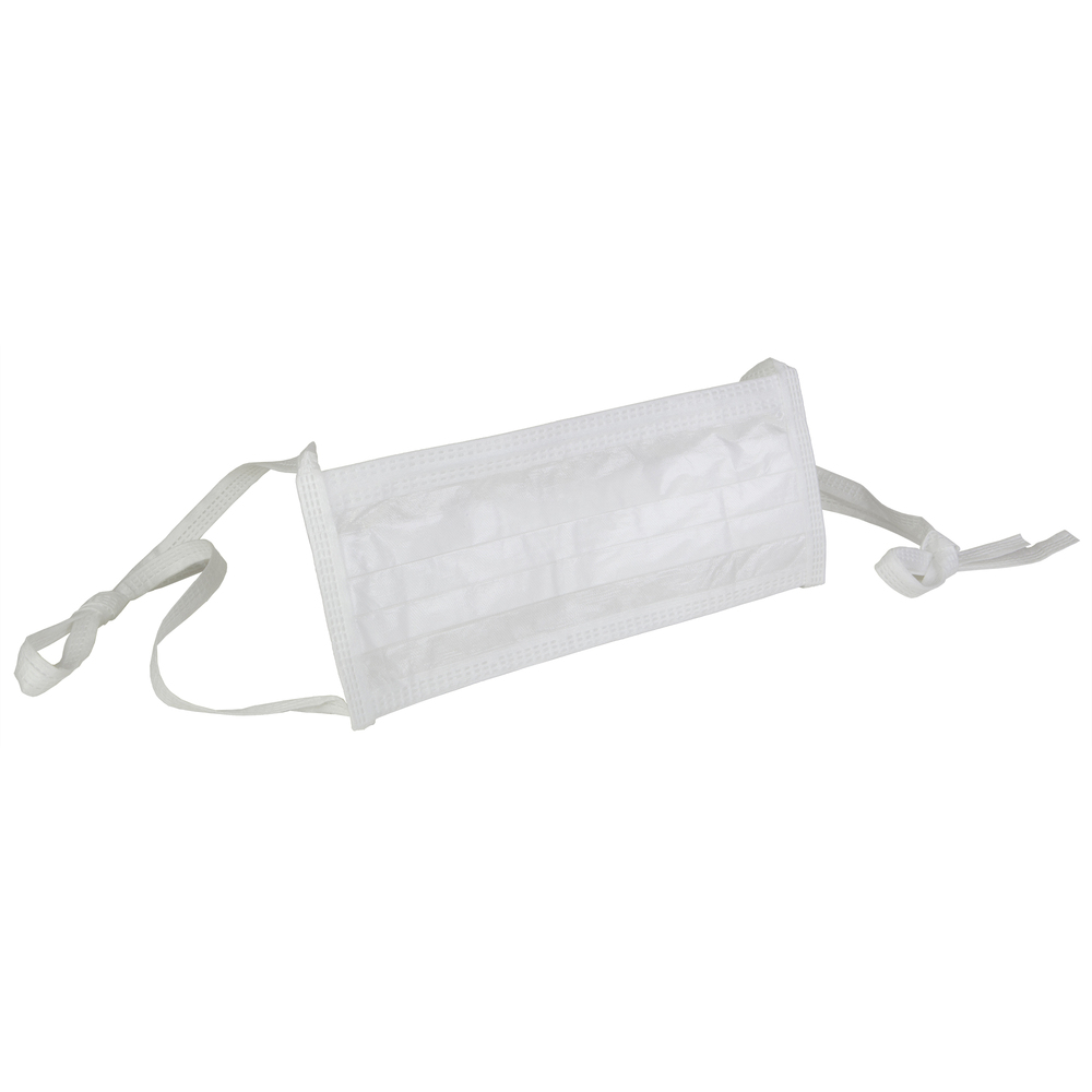 "Kimtech™ M3 Sterile Face Masks (62494), Pleat-Style, Soft Ties, 9"", Double Bag, White, One Size, 200 Masks / Case, 20 / Bag, 10 Bags - 62494"