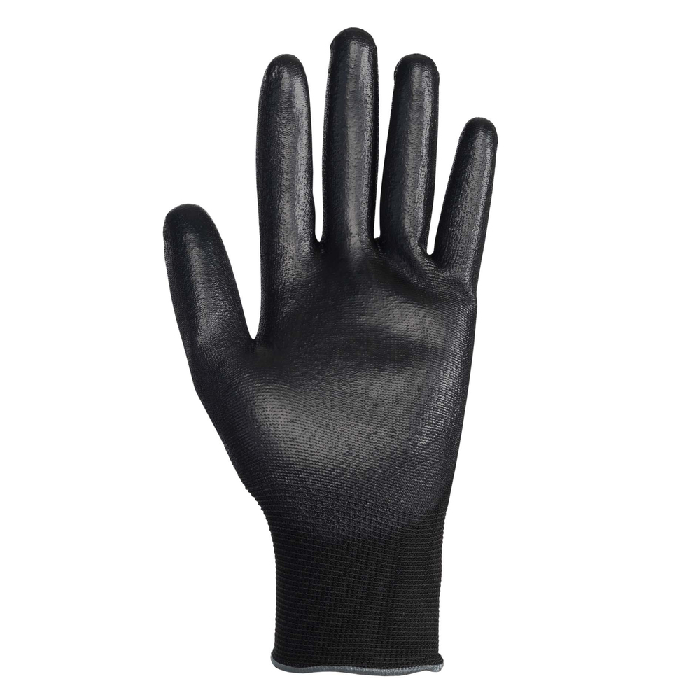 KleenGuard™ G40 Smooth Nitrile Coated Gloves (38431), Size 11.0 (2XL), Seamless Knit Back, Level 3 Abrasion Rating, Black, 12 Pairs / Bag, 5 Bags / Case, 60 Pairs - 38432