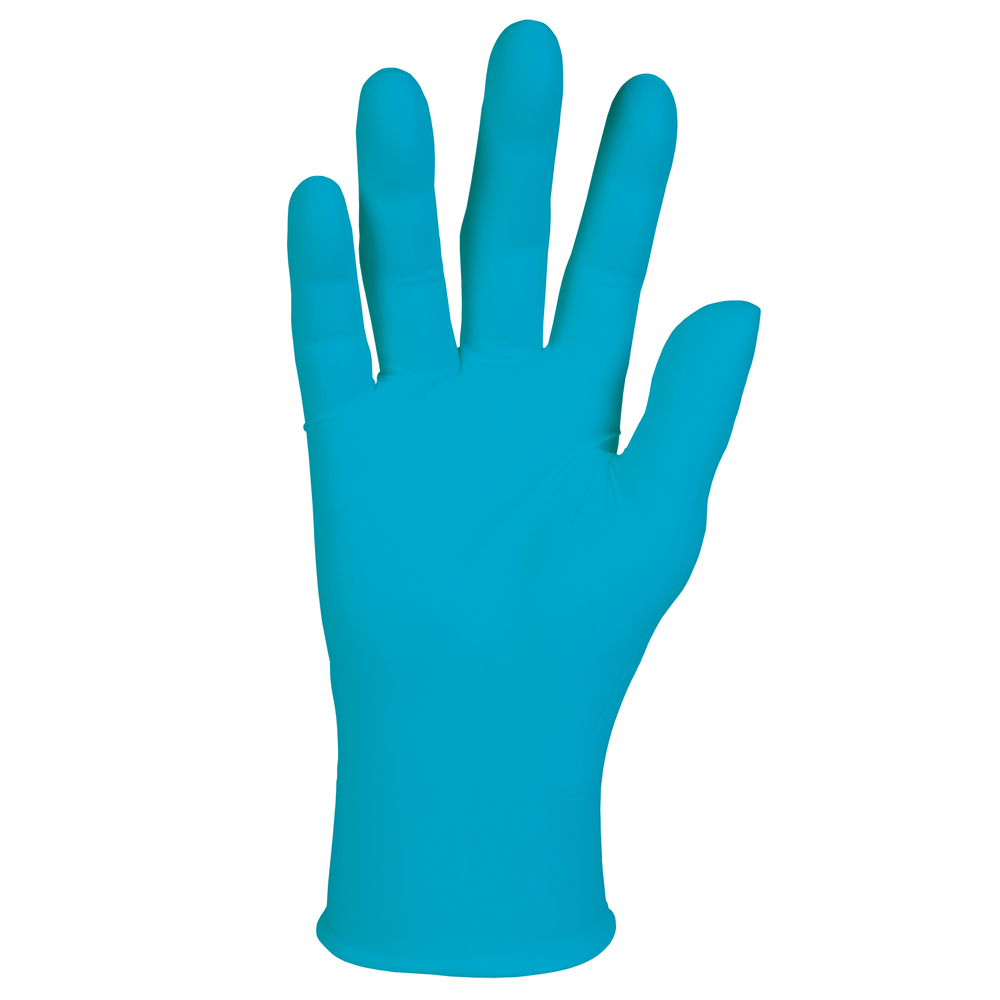 "Kimtech™ G5 Blue Nitrile Gloves (56861), ISO Class 5 or Higher Cleanrooms, Bisque Finish, Ambidextrous, 10"", Large, Double Bagged, 100 / Bag, 10 Bags, 1,000 Gloves / Case - 56861"