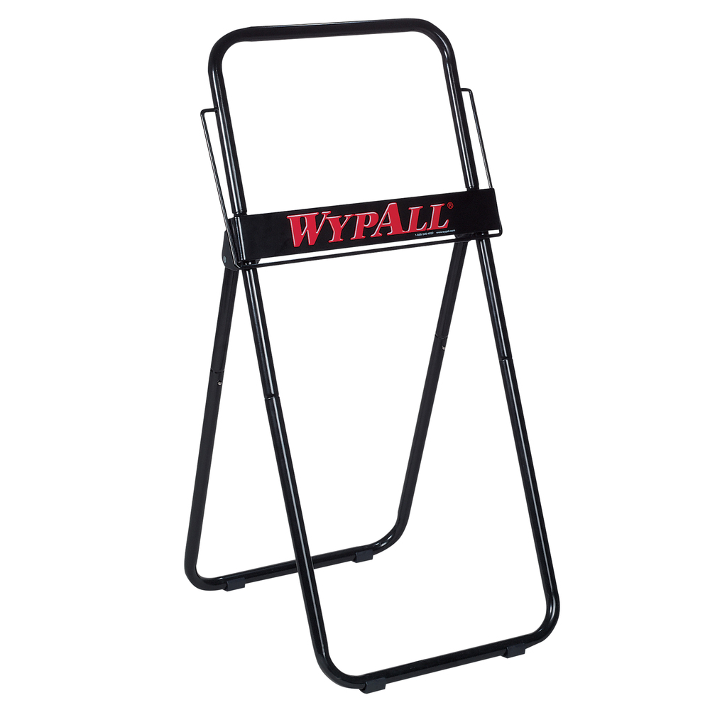 "Jumbo Roll Dispenser for WypAll® and Kimtech™ Wipers (80596), Portable, Free-Standing, 16.8"" x 18.5"" x 33"", Black - 80596"