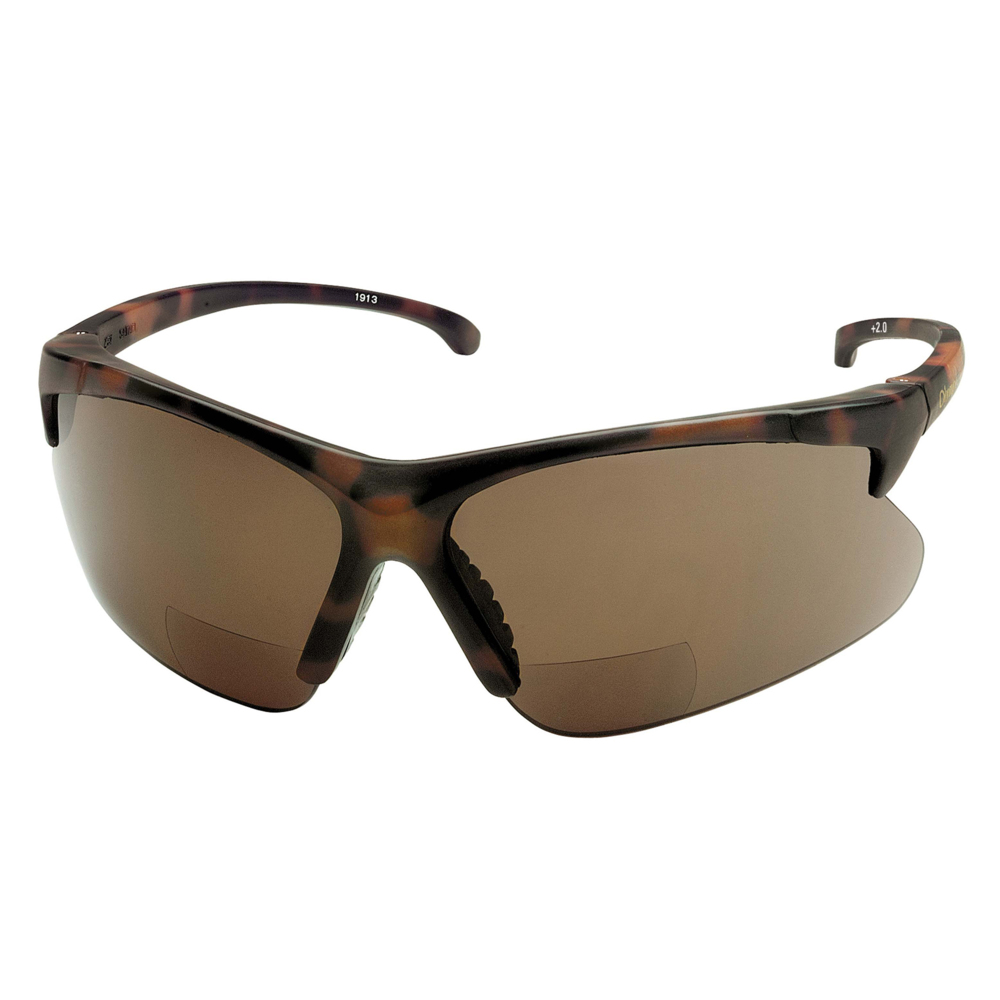 KleenGuard™ V60 30-06 Readers Safety Sunglasses (19874), Smoke Readers with +2.0 Diopters, Tortoise Frame, 6 Pairs / Case - 19874
