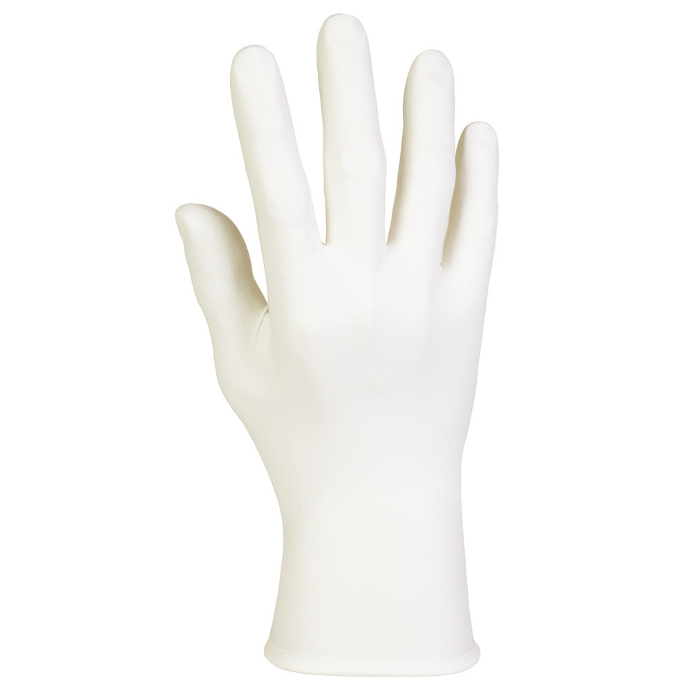 "Kimtech™ G5 White Nitrile Gloves (56867), ISO Class 5 or Higher Cleanrooms, Bisque Finish, Ambidextrous, 10"", Large+, Double Bagged, 100 / Bag, 10 Bags, 1,000 Gloves / Case - 56867"