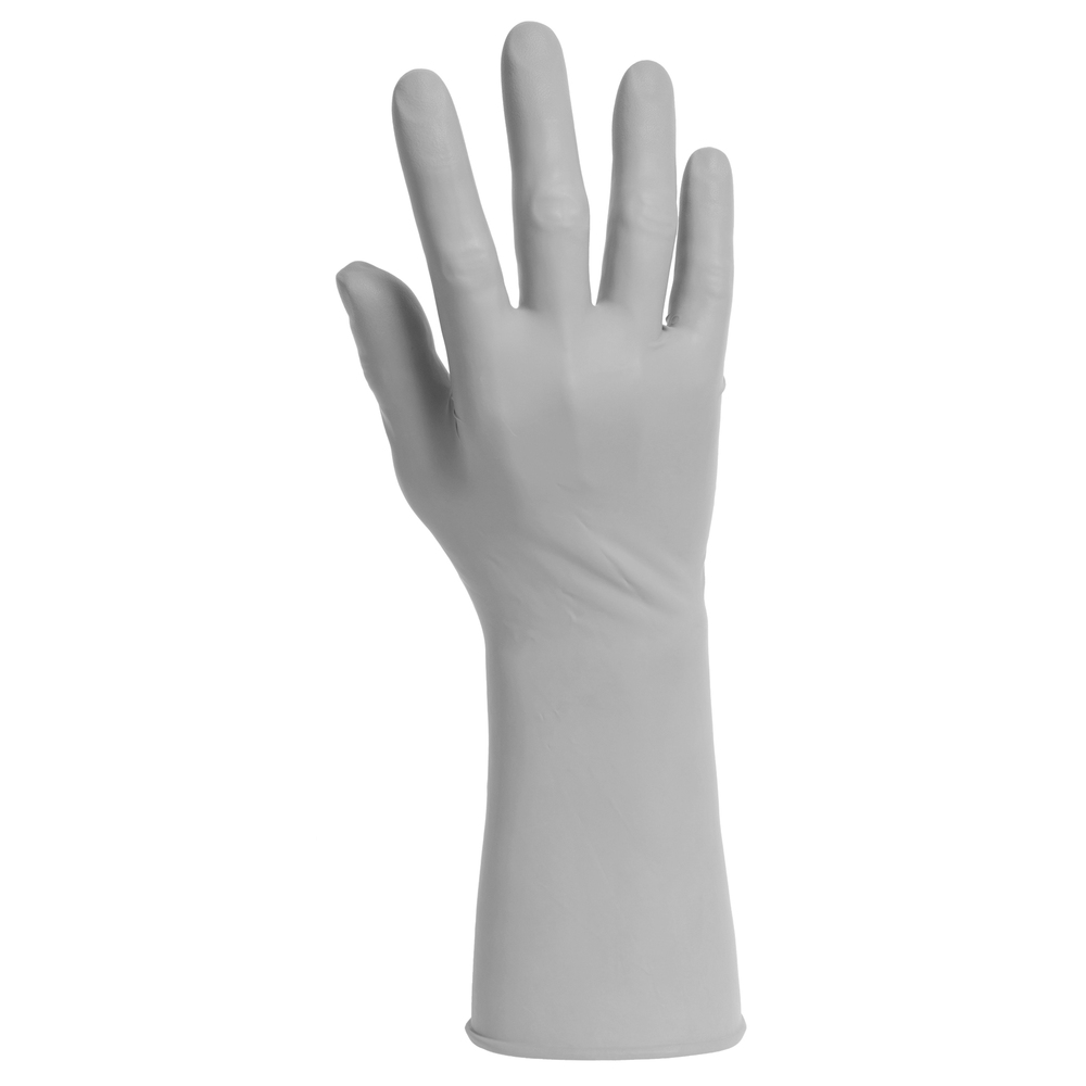 "Kimtech™ G3 Sterile Sterling™ Nitrile Gloves (11823), 4 Mil, Cleanrooms, Hand Specific, 12"", Size 7, Gray, 300 Pairs / Case - 11823"