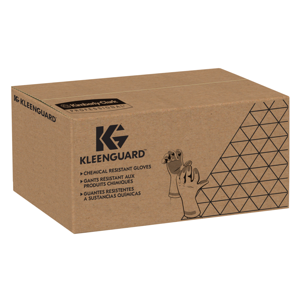 "KleenGuard™ G80 Neoprene / Latex Chemical Resistant Gloves (38743), 27.5 Mil, 12"", Blue & Yellow, Large (9), 12 Pairs / Bag, 1 Bag / Case - 38743"