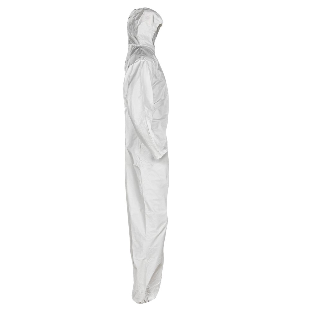 KleenGuard™ A20 Breathable Particle Protection Hooded Coveralls (49112), REFLEX Design, Zip Front, Elastic Wrists & Ankles, White, Medium, 24 / Case - 49112