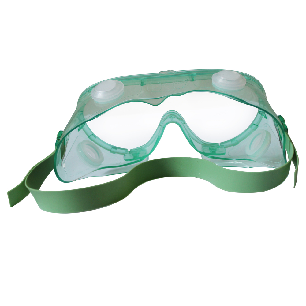 KleenGuard™ V80 Monogoggle 211 Goggle Protection (14384), Clear Lens, Green Frame, 36 Pairs / Case - 14384
