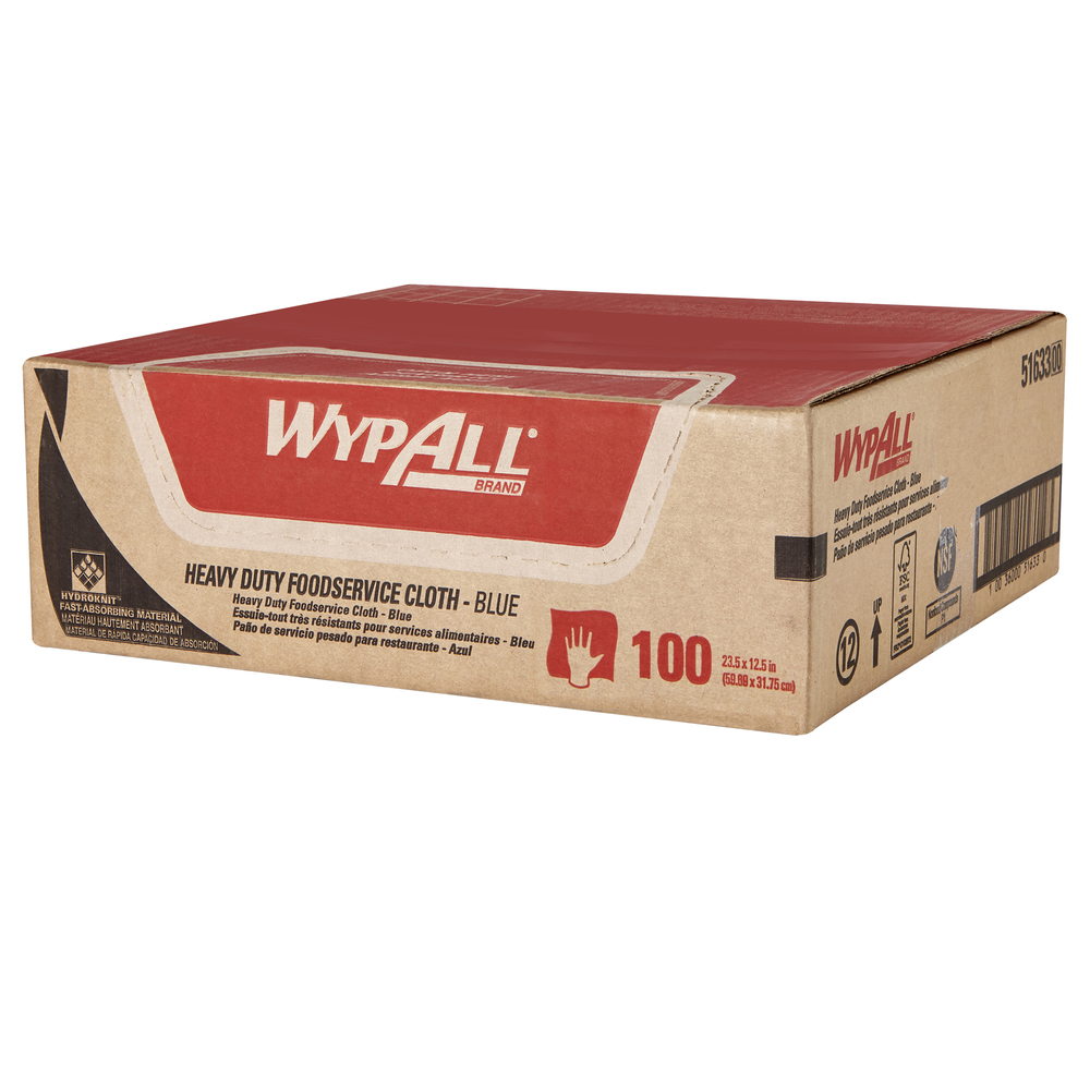 WypAll Heavy Duty Foodservice Cloth- Blue - 51633