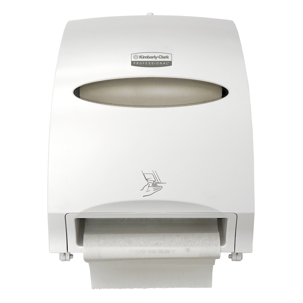 "Kimberly-Clark Professional™ Electronic Hard Roll Towel Dispenser, White, 1.75"" Core Size - 48856"