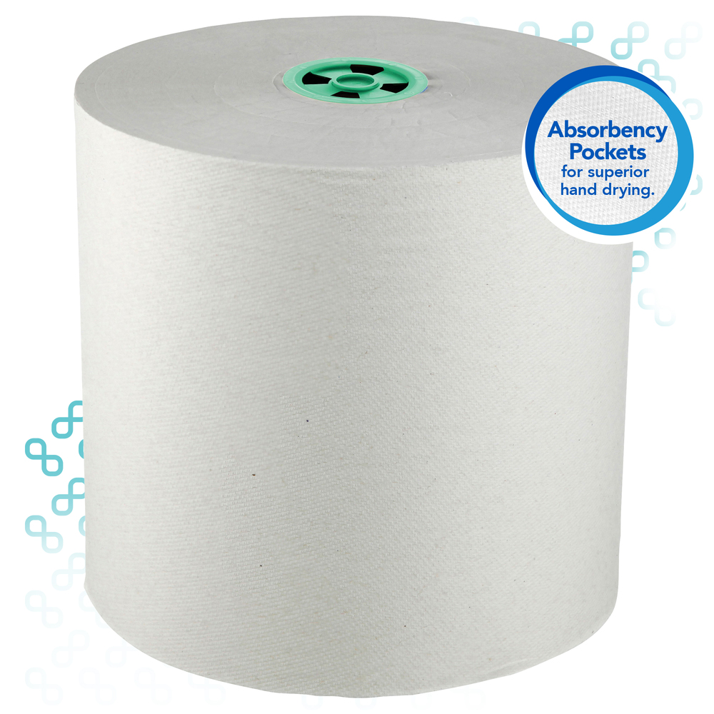 Scott® Pro Hard Roll Paper Towels (43961), with Absorbency Pockets, for Dispenser (Green Color Core only), 900' / Roll, 6 Rolls / Case, 5,400 feet - 43961