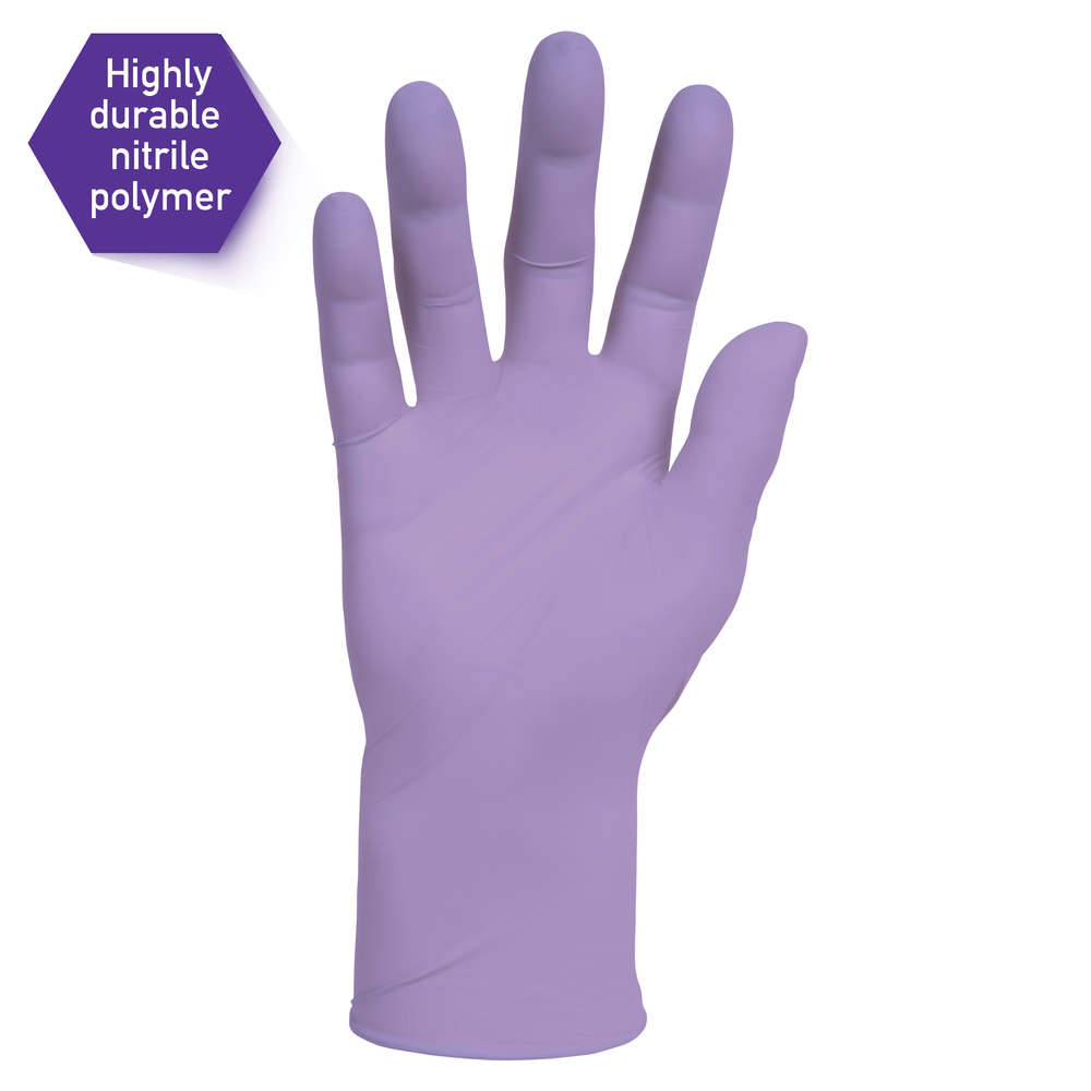 "Kimberly-Clark™  Lavender Nitrile Exam Gloves (52817), Thin Mil, 2.8 Mil, Ambidextrous, 9.5"", Small, 250 / Box, 10 Boxes, 2,500 Gloves / Case - 52817"