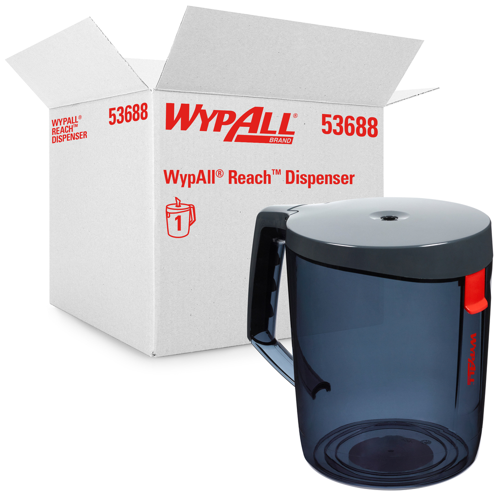 WypAll® Reach™ Towel System Dispenser (53688), Optional Mounting Bracket included, Use with WypAll® Reach™ Towel 53734, 1 Dispenser/Case - 53688