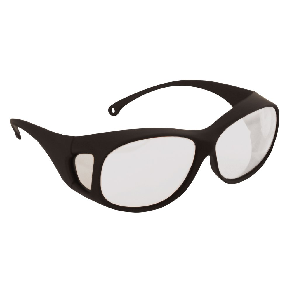 KleenGuard™ OTG Safety Glasses (20746), Fits Over Readers, Clear Anti-Fog Lenses, Black Frame, 12 Pairs - 20746
