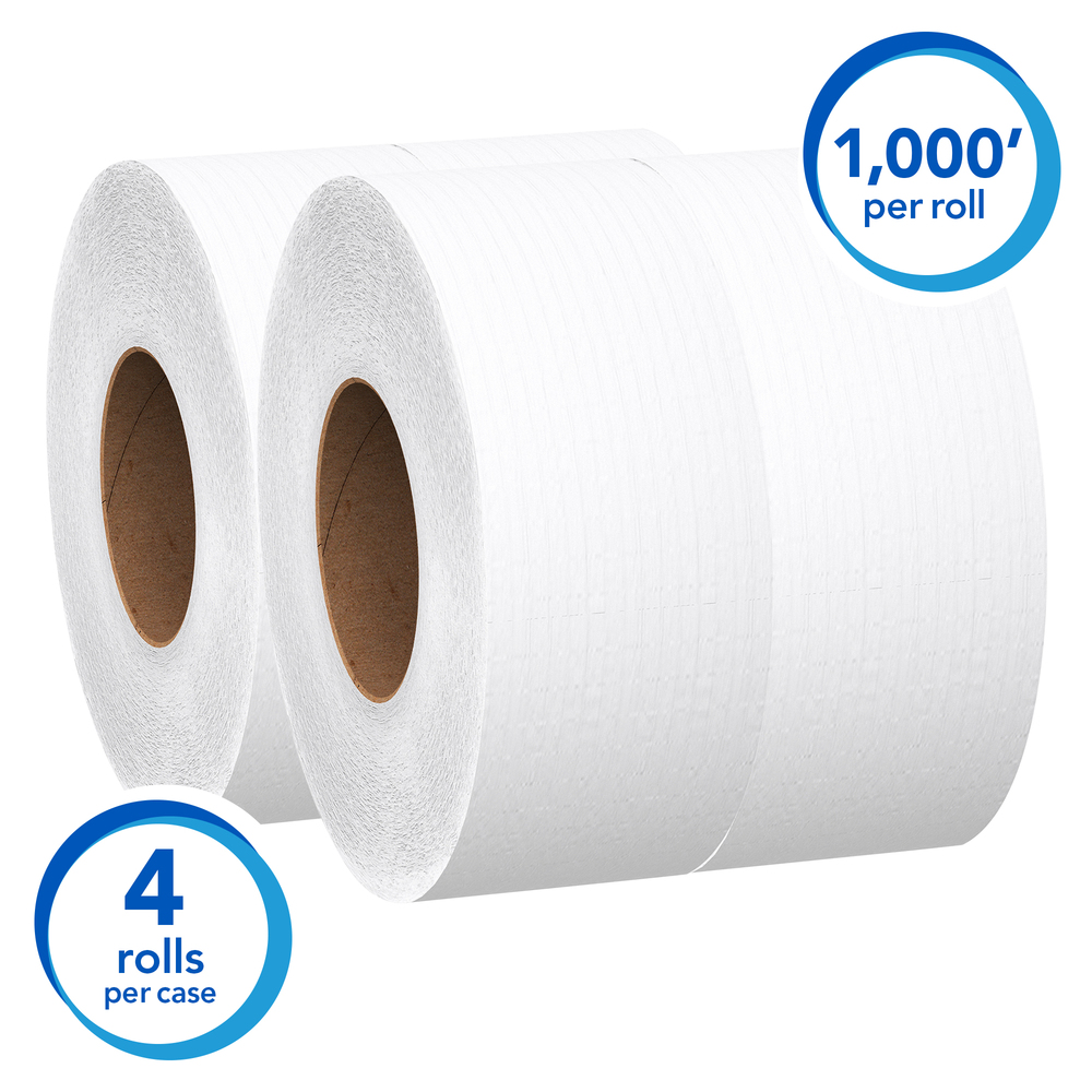 Scott® Essential JRT Jumbo Roll Bath Tissue, Convenience Case - 03148