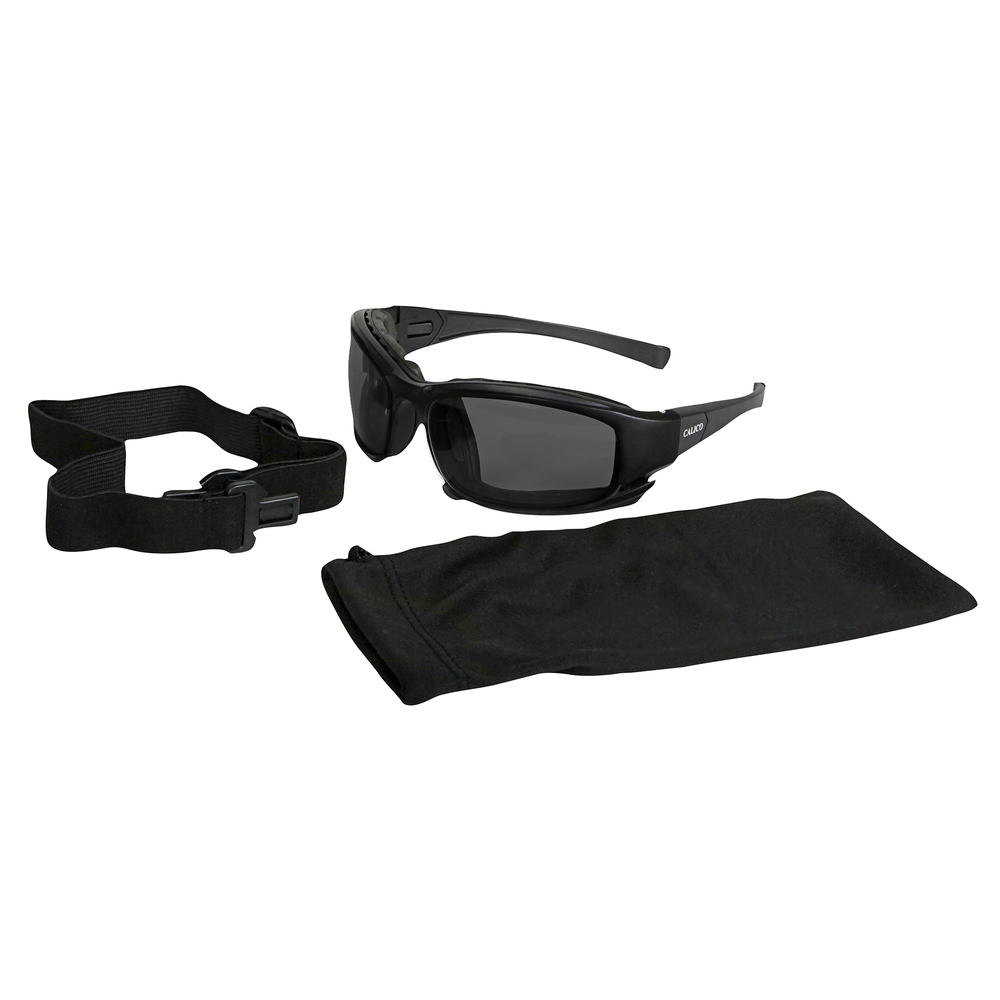 KleenGuard™ Calico Safety Eyewear V50 (25675), Smoke Anti-Fog Lens, Interchangeable Temple / Head Strap, 12 Pairs - 25675