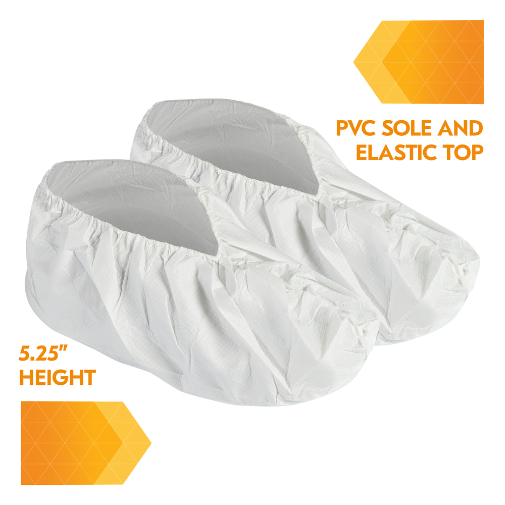 KleenGuard™ A40 Shoe Cover (44492), Large Disposable Shoe Covers, White, 400 Units / Case - 44492