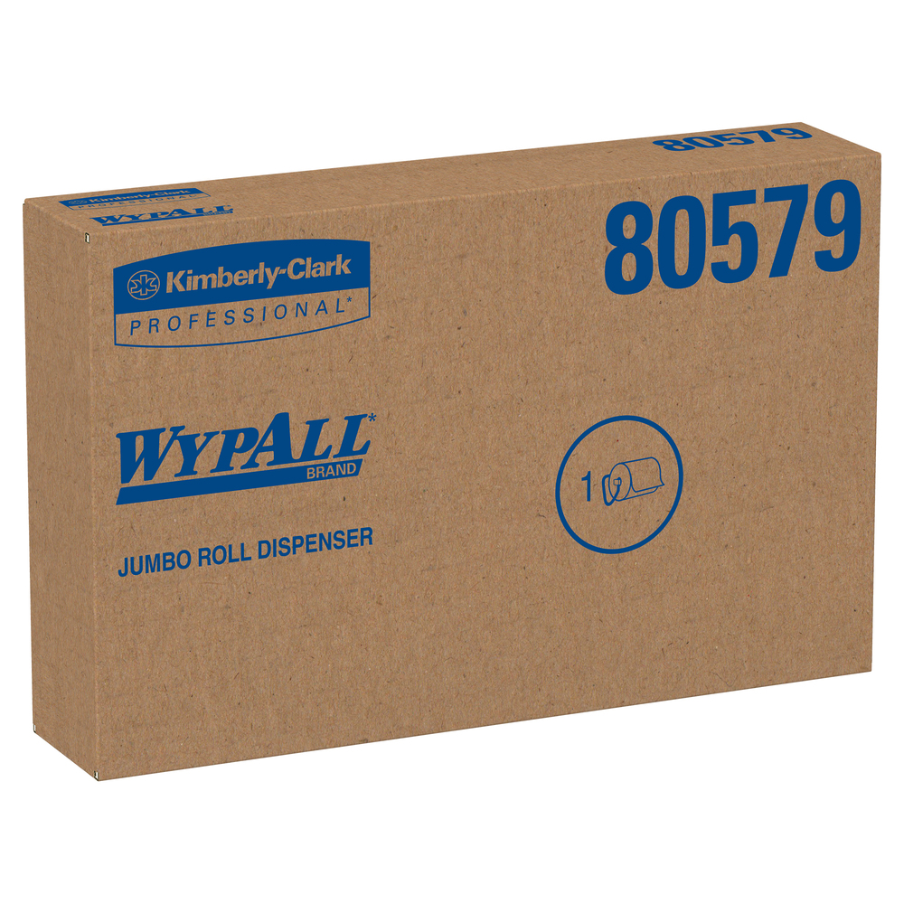 Wall Mounted Dispenser for WypAll® and Kimtech™ Wipes (80579), Jumbo Roll, Black - 80579