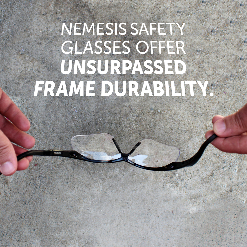 KleenGuard™ V60 Nemesis Vision Correction Safety Glasses (28624), Clear Readers with +2.0 Diopters, Black Frame, 6 Pairs / Case - 28624