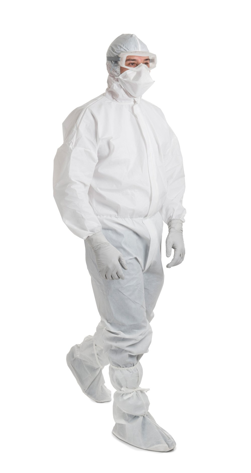 Kimtech™ A6 Breathable Liquid Protection Coveralls (47681), Covered Zipper, Elastic Cuffs, Thumb Loops, Hood, White, Small, 25 / Case - 47681
