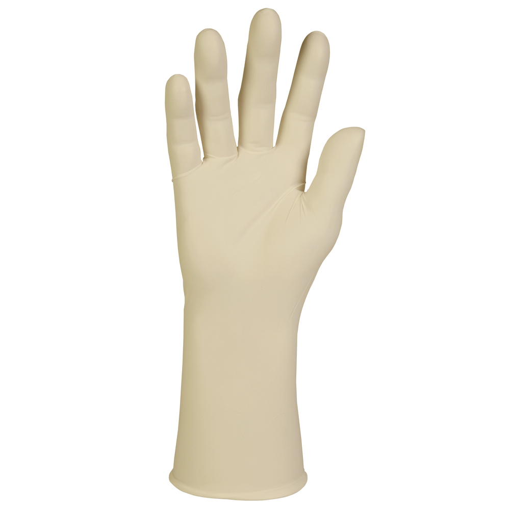 "Kimtech™ G3 Sterile Latex Gloves (56845), ISO Class 4 or Higher Cleanrooms, 8 Mil, Hand Specific, 12"", Size 7.0, Natural Color, 200 Pairs / Case, 4 Bags of 50 Pairs - 56845"