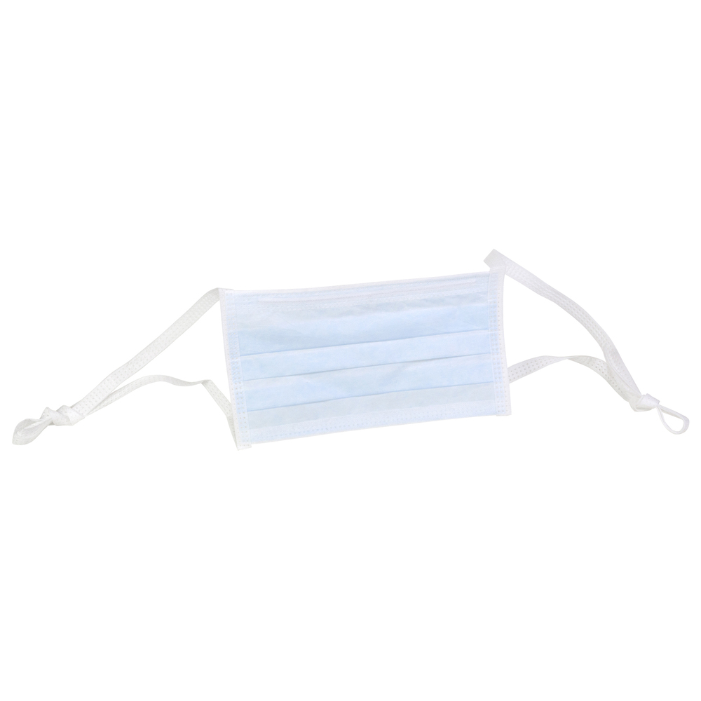 Kimtech™ M5 Pleat-Style Face Masks (62742), Soft Ties, Double Bag, Blue, One Size, 300 Masks / Case, 50 / Bag, 6 Bags - 62742